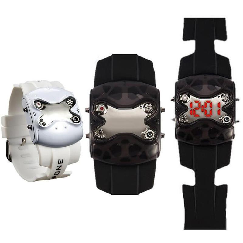1pc 2017 new fashion brand men male watches wrist clocks hour Rhinestone digital Wristwatches LED display