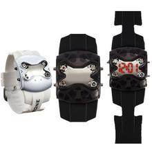 1pc 2017 new fashion brand men male watches wrist clocks hour Rhinestone digital Wristwatches LED display silicone strap gift H3