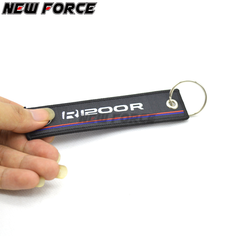 New Arrival Embroidery Key Holder Chain Collection Keychain for <font><b>BMW</b></font> <font><b>R1200RT</b></font> R1200 RT R 1200RT Motorcycle Badge Keyring image