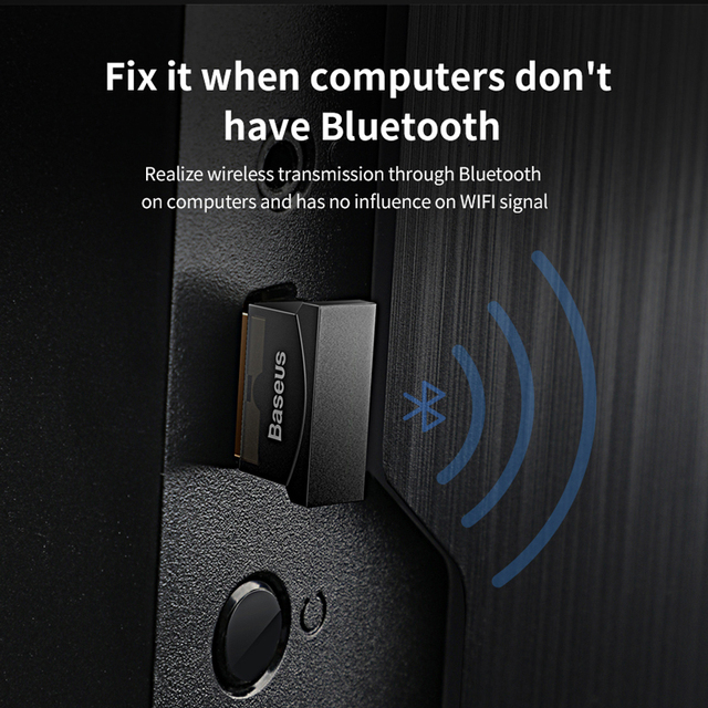 Baseus USB Bluetooth Adapter Dongle For Computer PC Mouse Keyboard Aux Bluetooth 4.0 4.2 Speaker Music Receiver Transmitter 2