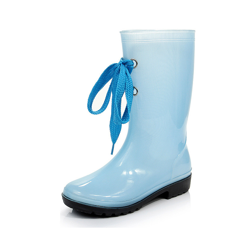 Jelly rain boots female Korean women s spring and summer rain boots water shoes slip SUB1248