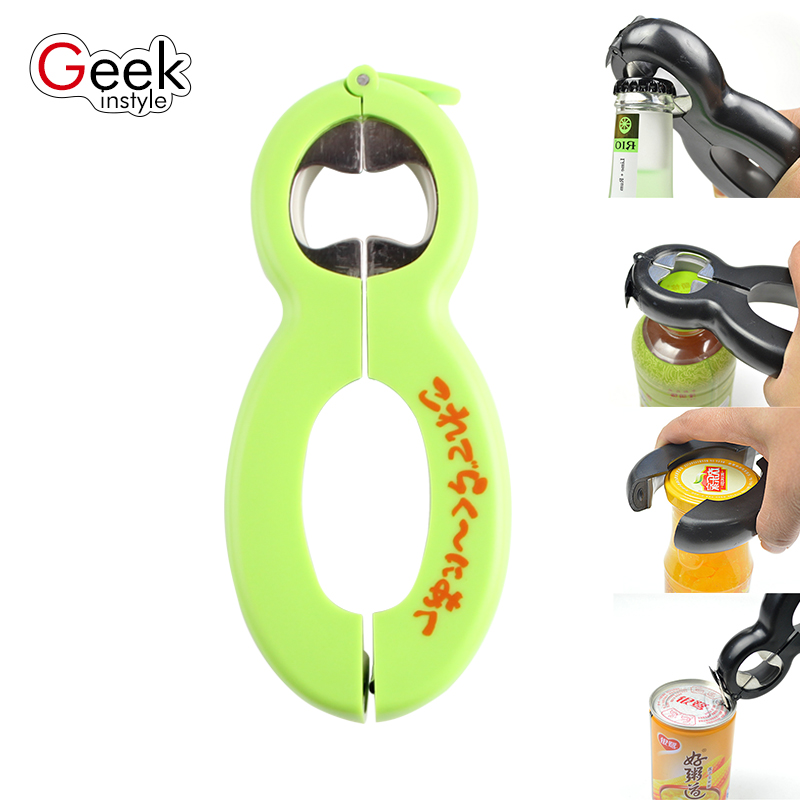 multifunctional a bottle opener tool used in four ways can opener corkscrew cap jar beer bottle. Black Bedroom Furniture Sets. Home Design Ideas
