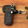 Genuine LeatherKey Cover For Land Rover Range Rover Sport Discovery 2 3 4 Freelander Evoque Remote Case Wallet Leather Keychain