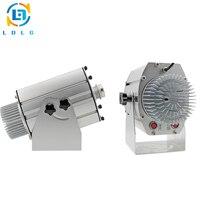 Aluminum Alloy Silver 4 or 8 Images 40W LED Gobo Projector Advertising Light 110V 240V 4500lm Custom Images LED Logo Projector
