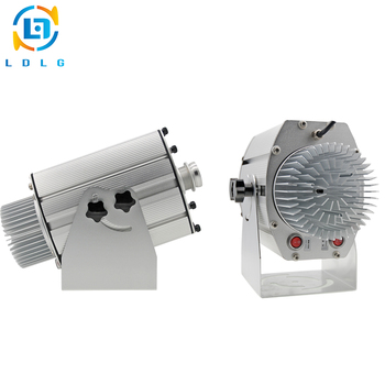 Ze stopu aluminium srebrny 4 lub 8 obrazy 40 W LED Gobo projektor światło reklamowe 110 V 240 V 4500lm niestandardowe obrazy LED Logo projektor
