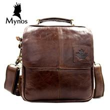 New Brand Fashion Men Bag 100% Cow Leather Vintage Crossbody Bag Genuine Leather Shoulder Bag For Men Business Male Bag Bolsas