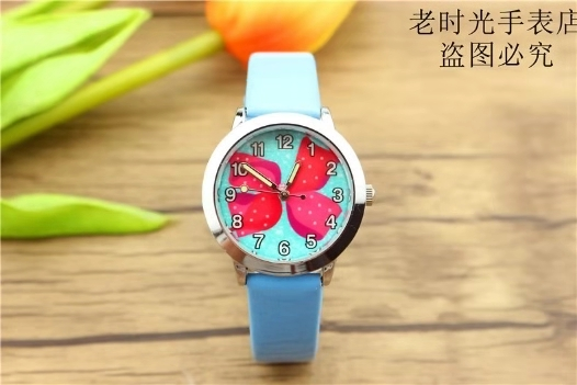 Children's lovely luminous digital quartz watch primary school cartoon bow strap watch children's watch