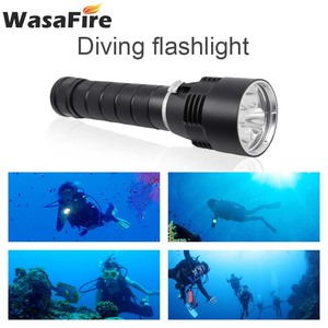 Image 2 - Wasafire 10000 Lumens Diving Torch Professional Powerful led Waterproof Scuba Dive Flashlight Diver Light LED Underwater Lantern