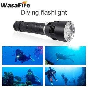 Image 2 - Wasafire 10000 Lumens צלילה לפיד מקצועי עוצמה led עמיד למים לצלילה פנס צולל אור LED מתחת למים פנס