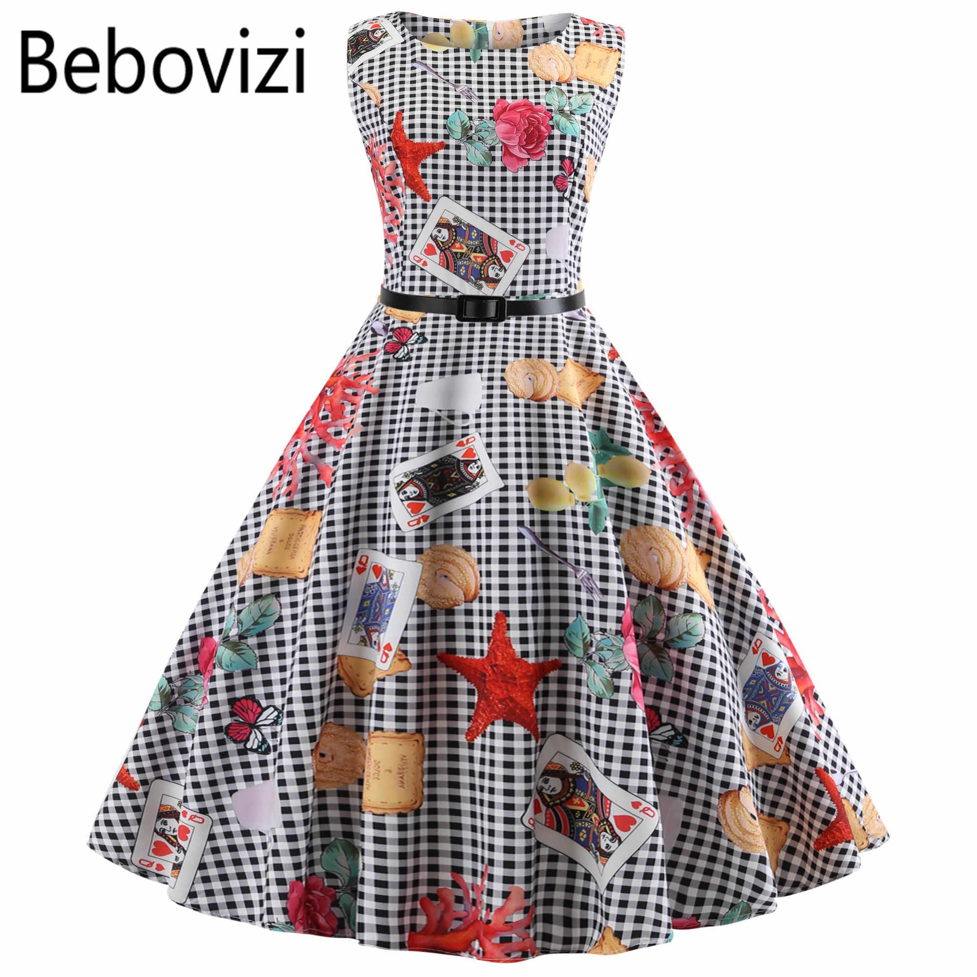 618df3c858 New Black White Plaid Plus Size Women Vintage Dress Vestidos Hepburn 50s  Party Dresses Casual Elegant Rockabilly Pin Up Sundress