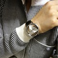 Hot Sale PU Leather Band Stainless Steel Sport Analog Quartz Women Mens Fashion WristWatch Colck