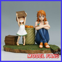MODEL FANS IN STOCK AKUMA one piece adult nami and childhood nami GK resin statue figure toy for collection