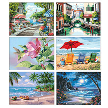 5D DIY Diamond Embroidery Landscape Painting Cross Stitch Full Round Mosaic