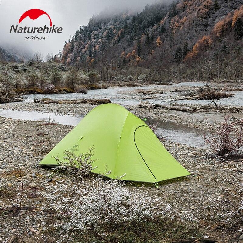Naturehike 2019 Nouveau Nuage Up Série Ultra-Léger 1 homme Tente Camp Équipement grand espace 20D Nylon D'hiver d'été tente de camping avec tapis