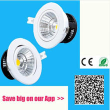 New Dimmable Recessed led downlight cob 3W 5W 7W 10W dimming LED Spot light led ceiling lamp 110V 220V for home luminaire IP44