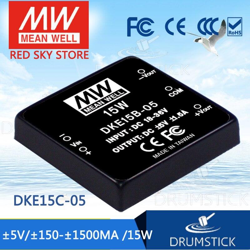 цена на Advantages MEAN WELL DKE15C-05 5V 1500mA meanwell DKE15 5V 15W DC-DC Regulated Dual Output Converter