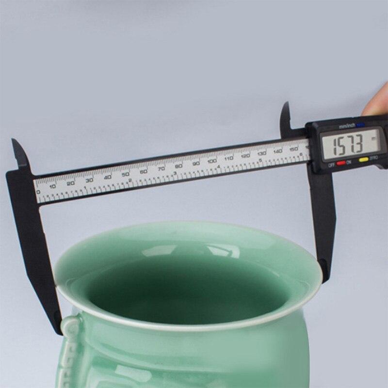 300 мм 200 электронный цифровой штангенциркуль ЖК-Пластиковый штангенциркуль с длинной челюстью микрометр Внутренний Внешний диаметр измери...