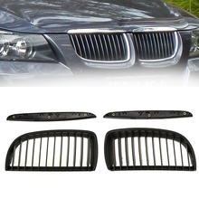 High Quality Intake grille High Quality Dumb black Front Kidney Grill Grilles For BMW E90 E91 2005-2008 Saloon цена