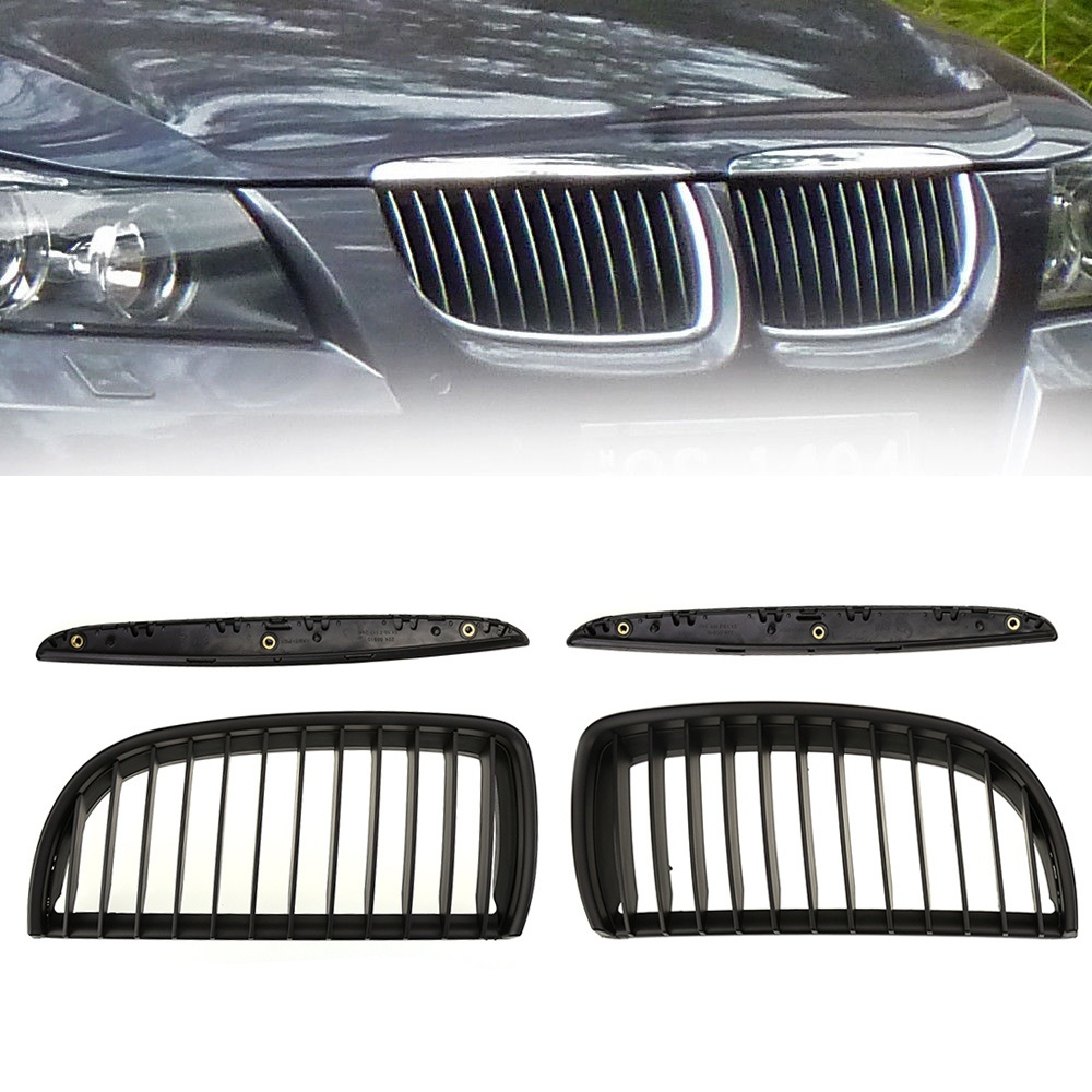 High Quality Intake grille High Quality Dumb black Front Kidney Grill Grilles For BMW E90 E91 2005 2008 Saloon 828 Promotion