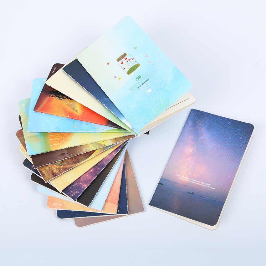 1PC Fashion Star Universe Notebook Wishing Bottle Diary Book School Supplies 80K Car Line The Portable Notepad