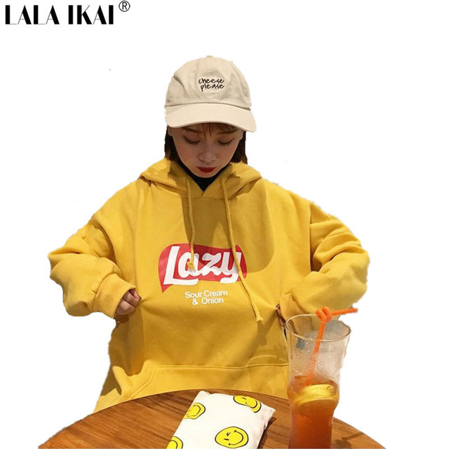 f500d7027d1c6 Korean Version Loose Hooded Harajuku Thick Coat Jacket Lazy Tops Sweatshirt  Women tracksuit Fleece Hoodies Sweatshirt SWI0306-3