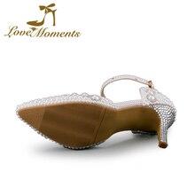 Love Moments Women's sandals with heels White Wedding Shoes woman Bride Pumps valentine shoes ladies shoes evening women shoes