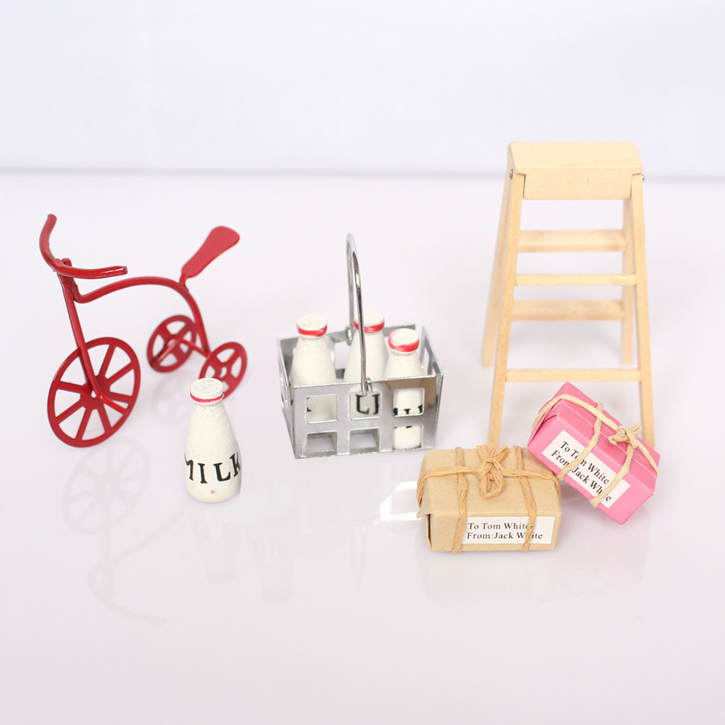 New Kids 1/12 Minature Dollhouse Furniture Tricycle Milk