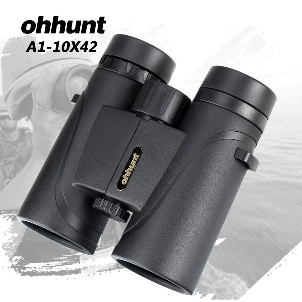 ohhunt A1-10X42 Binoculars Telescope Hunting Optics Lens Bak4 Porro Prism Fogproof Binocular with Dust Cover Hiking Camping цена