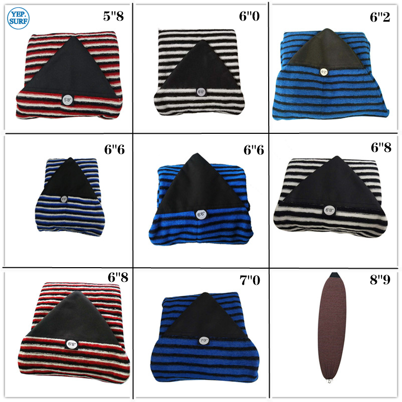 Surfing 6ft 10ft Surfboard Sock 7 Sizes of Surfboard Cover Knit Stretch terry Soft Quick Dry