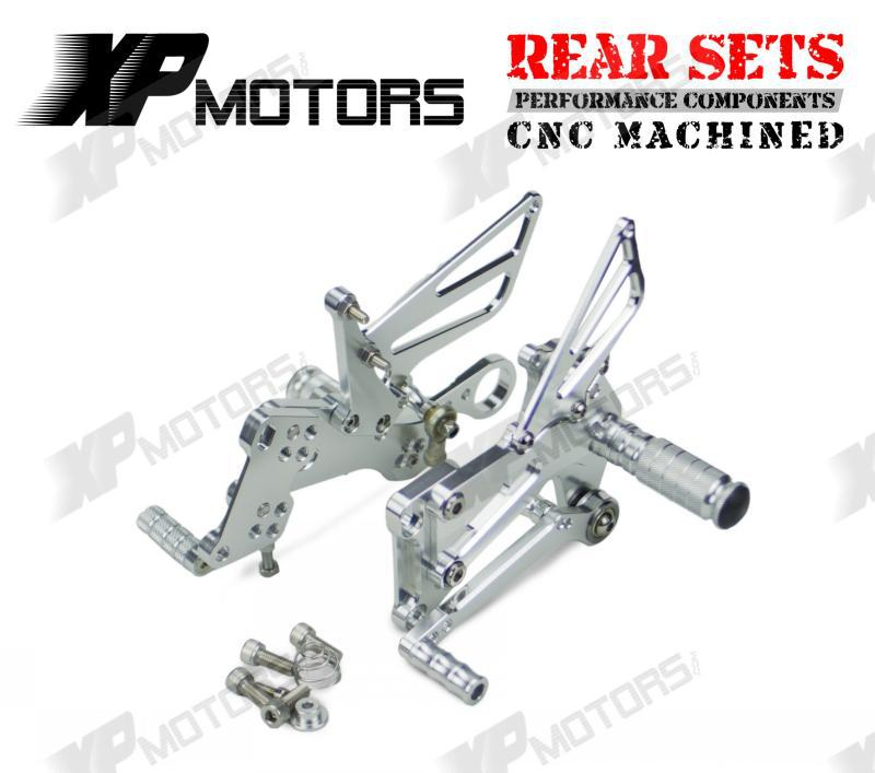 New Arrived CNC Billet Foot pegs  Adjustable Racing Rear Sets Fit For BMW S1000R S1000RR HP4  Silver