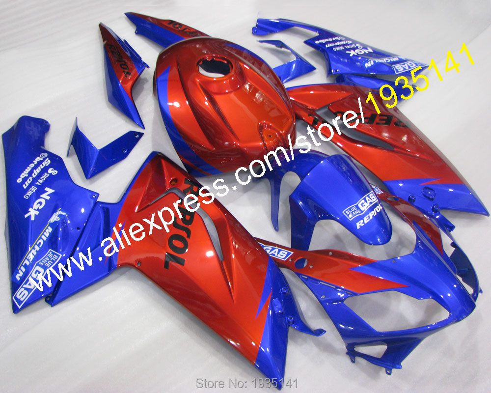 Hot Sales,Motorbike fairing part For Aprilia RS125 2007-2011 popular blue red bodywork RS 125 07 08 09 10 11 (Injection molding)
