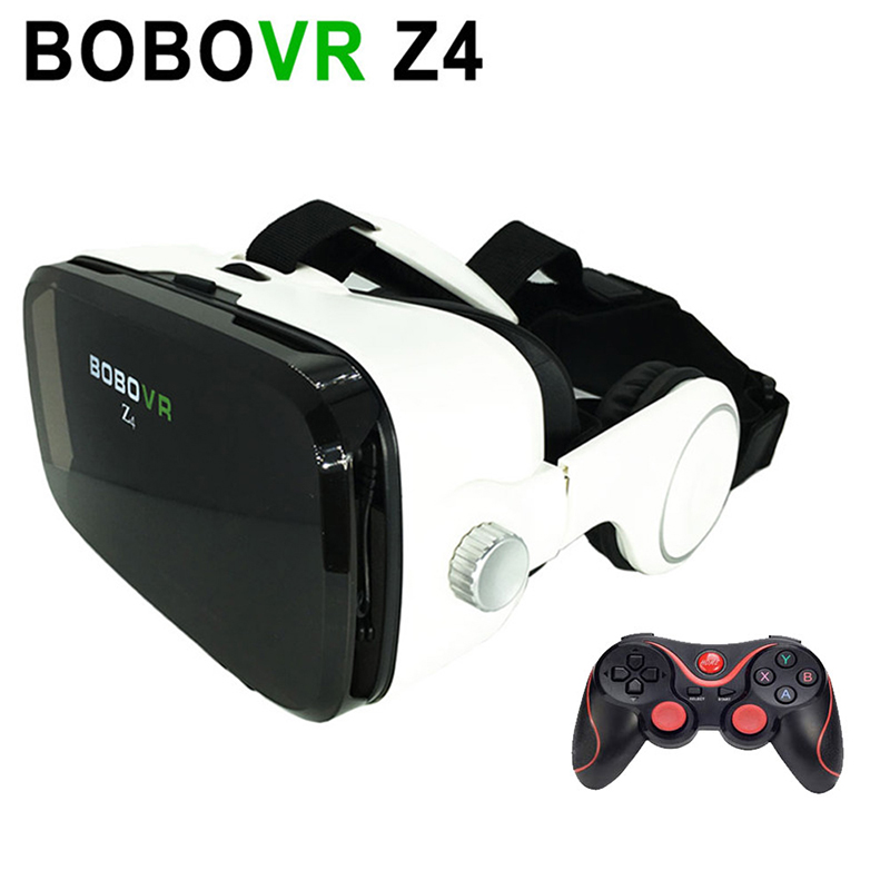BOBOVR Z4 Virtual Reality Glasses with Headphones VR Headset for 4.7-6.2″ Smartphones + Bluetooth Wireless Remote Controller