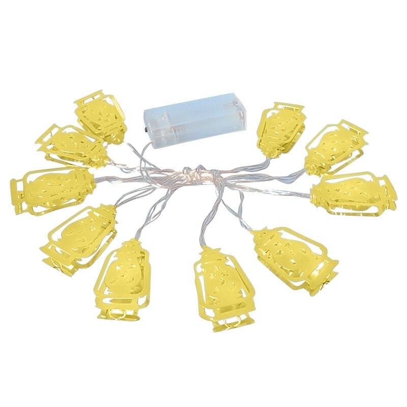 Islamic Eid Ramadan Decor 10 Led String Light Golden Home Fanoos Lantern Battery