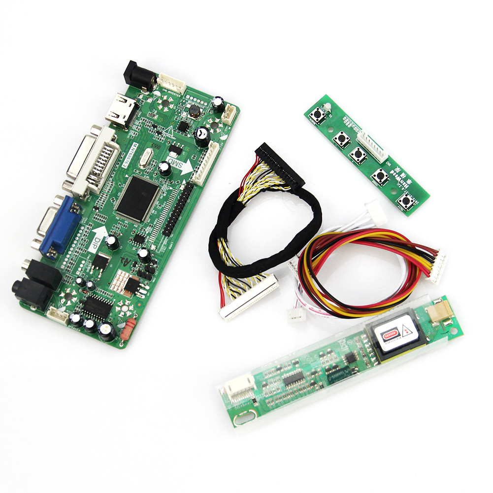 M.NT68676 LCD/LED Controller Driver Board(HDMI+VGA+DVI+Audio) For B154EW02 V7 LP154WX4-TLC3  1280x800 LVDS Monitor Reuse Laptop m nt68676 lcd led controller driver board for b116xw01 v 0 hdmi vga dvi audio 1366 768 pc