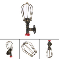 Loft Industrial Iron Rust Water Pipe Retro Wall Lamps Vintage E27 LED Sconce Wall Lights For
