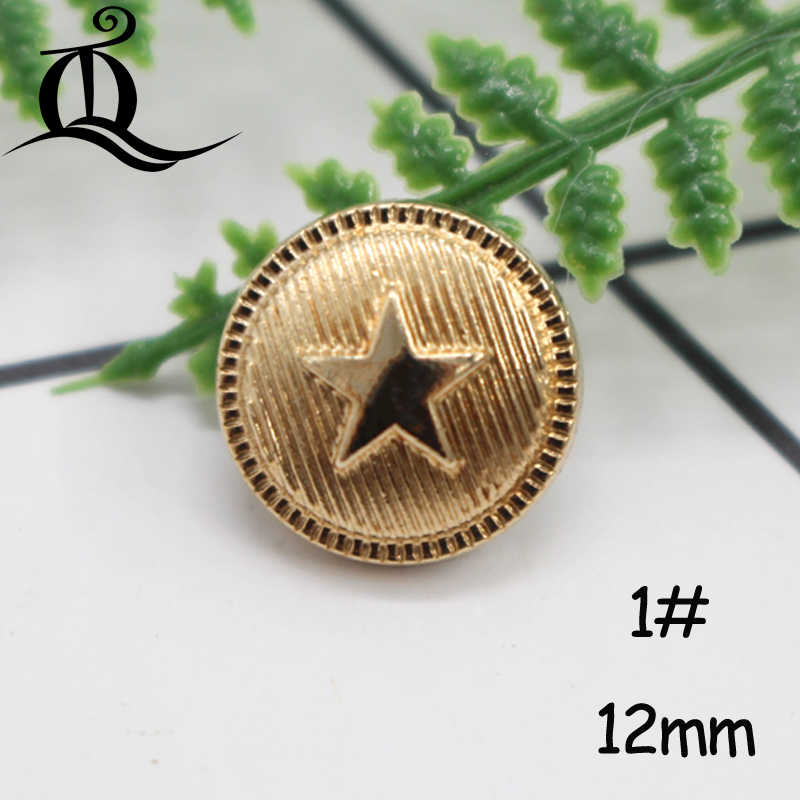 10-12mm Mix British Style High-grade Lion Metal Buttons Wheat Round Coat Jacket Sweater Clothing Garment Accessories Diy Mate Buttons