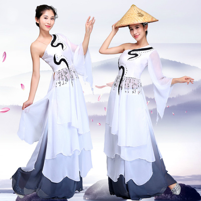 High Quality Women Dancing Dress Stage Performance Costume Chinese  Traditional Cosplay Costume Fan Dance Clothes 16 7f673d46a