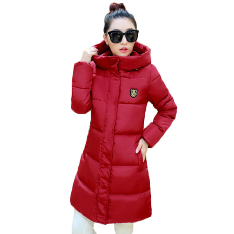 ФОТО 2017 Women Winter Down Jackets And Coats Women Plus Size High Quality Warm Female Thickening Slim Warm Parka Hood Over Coat C208