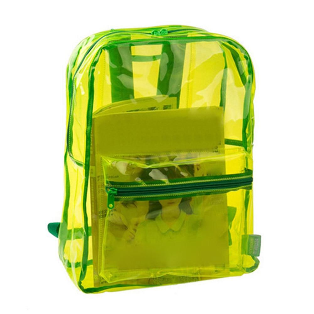Men Women Clear Backpack PVC Transparent Waterproof Student School Bag Travel Casual Shoulder Bags NewMen Women Clear Backpack PVC Transparent Waterproof Student School Bag Travel Casual Shoulder Bags New