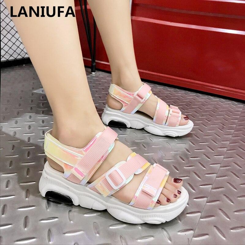 New Women Sandals Women Summer Platform Sandals Shoes Women Breathable Mesh Breathable Comfort Walking Sandals Women Shoes &86