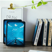 أزياء برج ايفل ليلة نجوم السماء القط المعادن الصعب غطاء دفتر مذكرات المفكرة جدول مخطط مكتب هدية