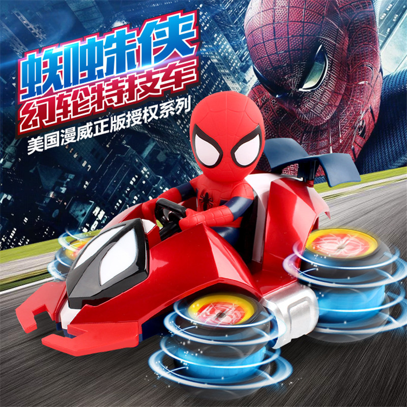 RC Car 4WD 2.4GHz Spiderman Stunt Car Four-wheel drive racing drift Remote Control Model Off-Road Vehicle Toy