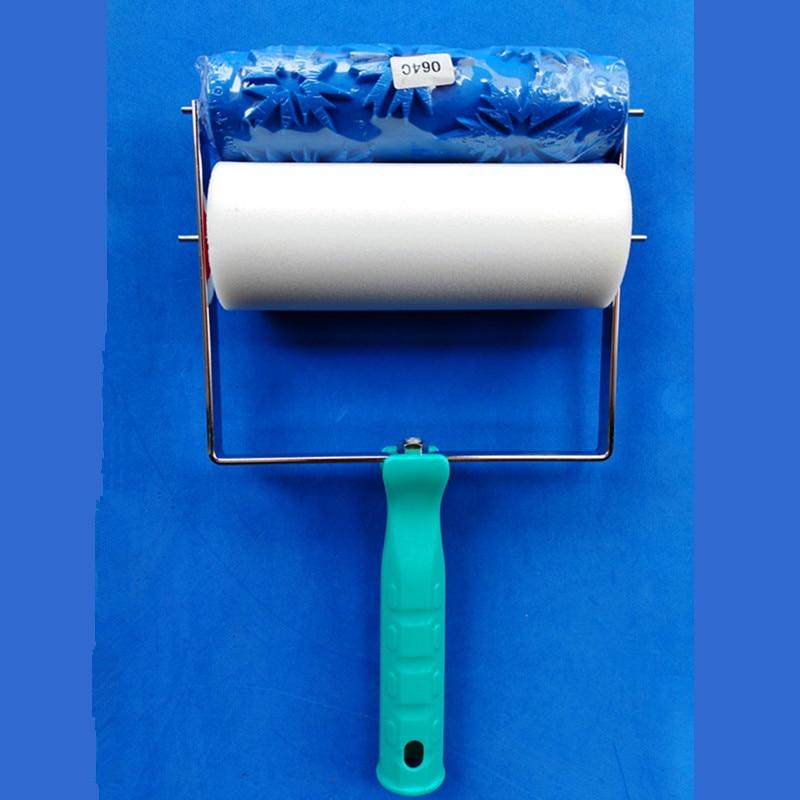 Svendita - Set di strumenti per la decorazione della parete fai-da-te, applicatore impugnatura 3D fai-da-te da 7 pollici più rullo di pittura con motivo a parete 064C