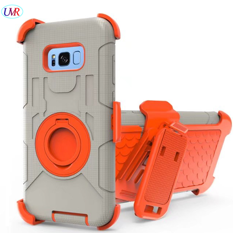 For Samsung S8 Case Shockproof Hybrid Hard Rubber Armor Phone Case for Galaxy S8 Finger Ring
