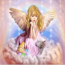 New arrival 5D Diy diamond painting cross stitch little angel girl  mosaic Cute child Home Decoration