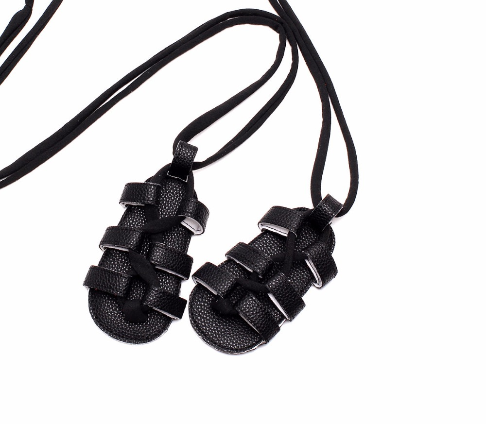 New Summer PU Leather Baby Girls Flat Heels Lace-up Sandals Girls Rome Sandals Baby High Gladiator Sandals Kids Sandal