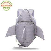 Arc-en-Bébé 3D Modèle Requin Enfants & Babys Sacs Anti Perdu Sacs d'école pour 2-8 Ans Garçons et Filles Sac À Dos Étanche Sac À Dos