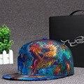 2016 de alta calidad gorra de béisbol en 3D flor de transferencia de calor patrón principal de hip-hop sombrero de ala plana sombrero de los hombres y las mujeres moda