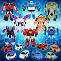 Coolplay 4pcs/set 12 x 9cm Classic Transformation Plastic TOBOT Robot Cars Action & Toy Figures Kids Education Toy Gifts for boy