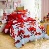 3D Merry Christmas Bedding 4pcs Queen Nice Beauty Fairness Cosiness Duvet Set Comfortable Queen